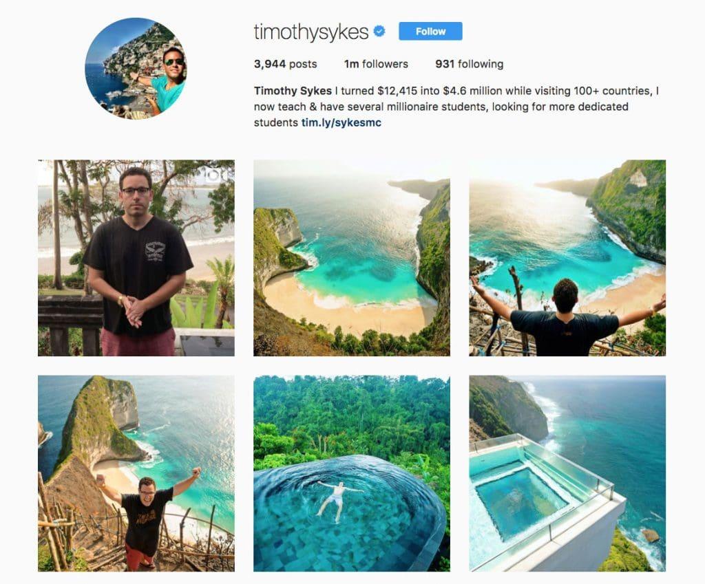 Tim Sykes Instagram