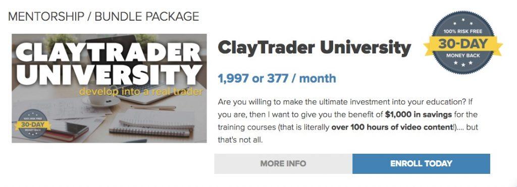 ClayTrader University