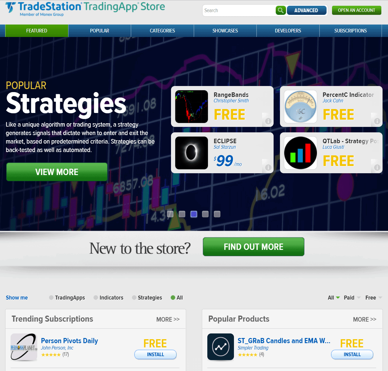 Trade Station Trading App Store