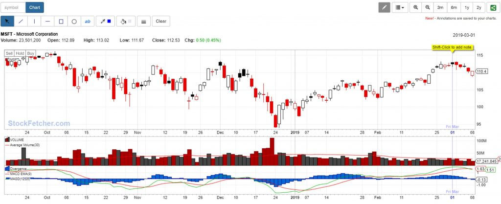 StockFetcher Individual Chart