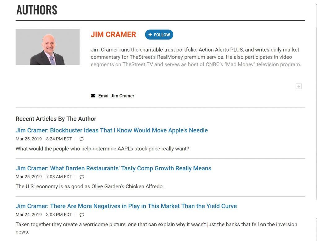 TheStreet Cramer Blog