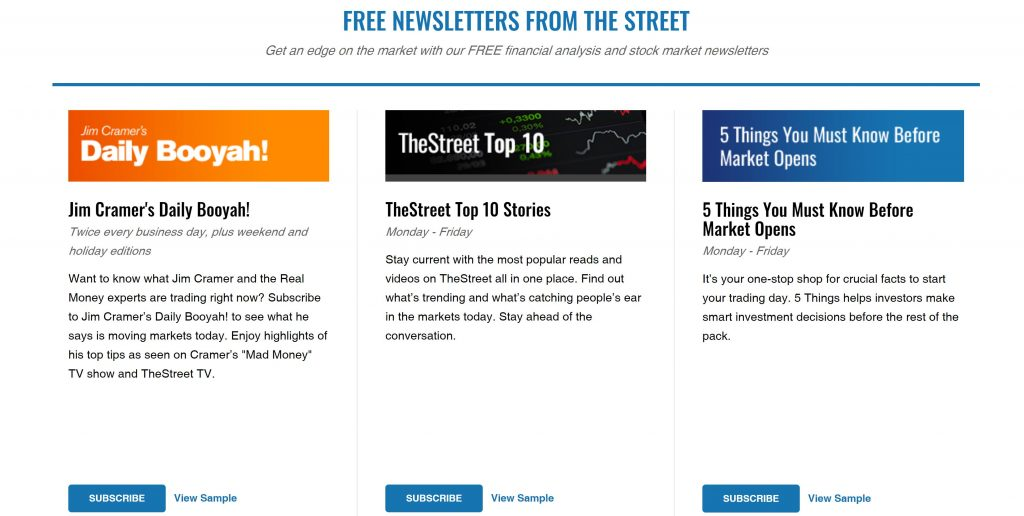 TheStreet Newsletters