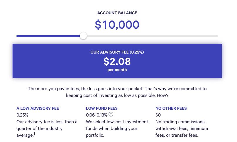 Wealthfront Fees