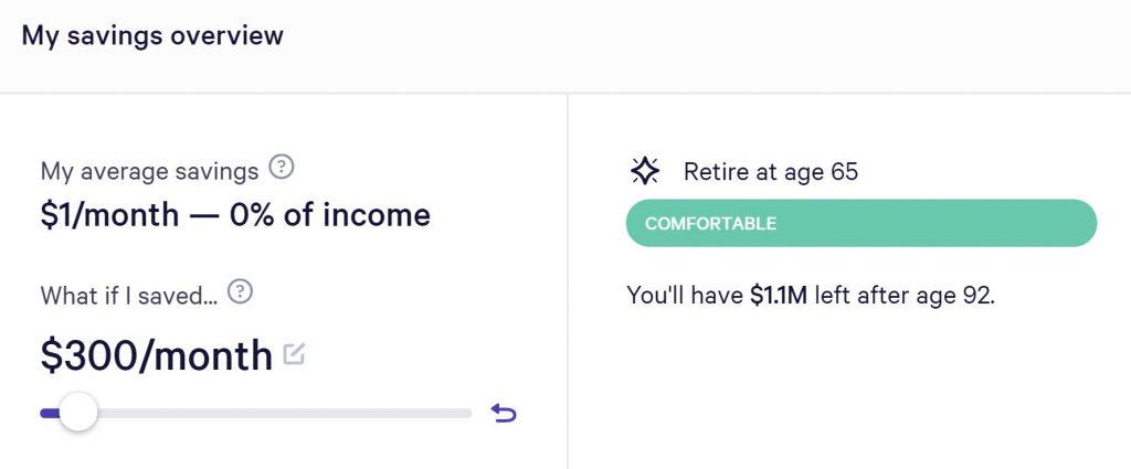 Wealthfront Retirement Tool