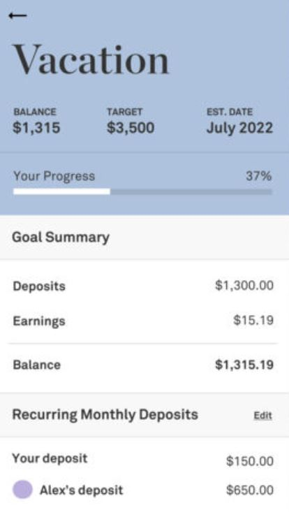 Twine Savings Goals
