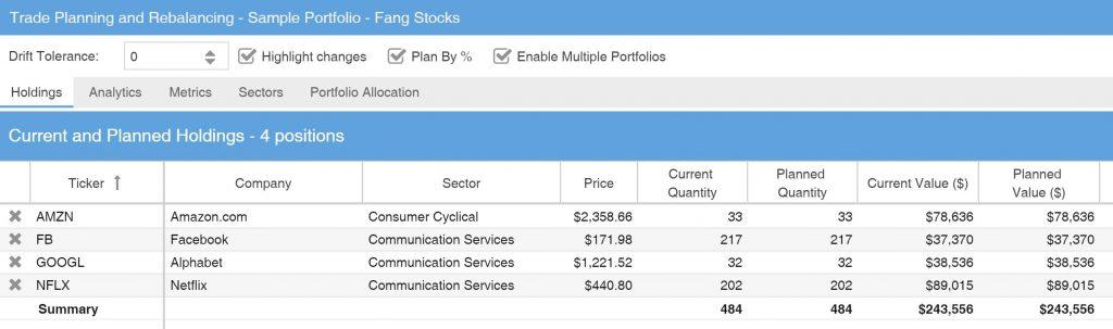Stock Rover - Portfolio Rebalancing