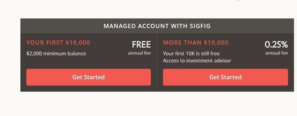 SigFig Pricing