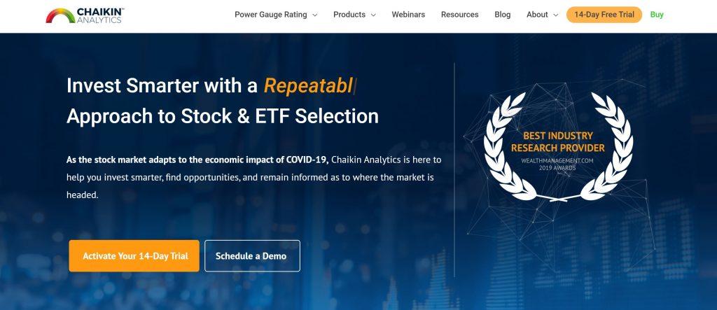 Chaikin Analytics - Homepage