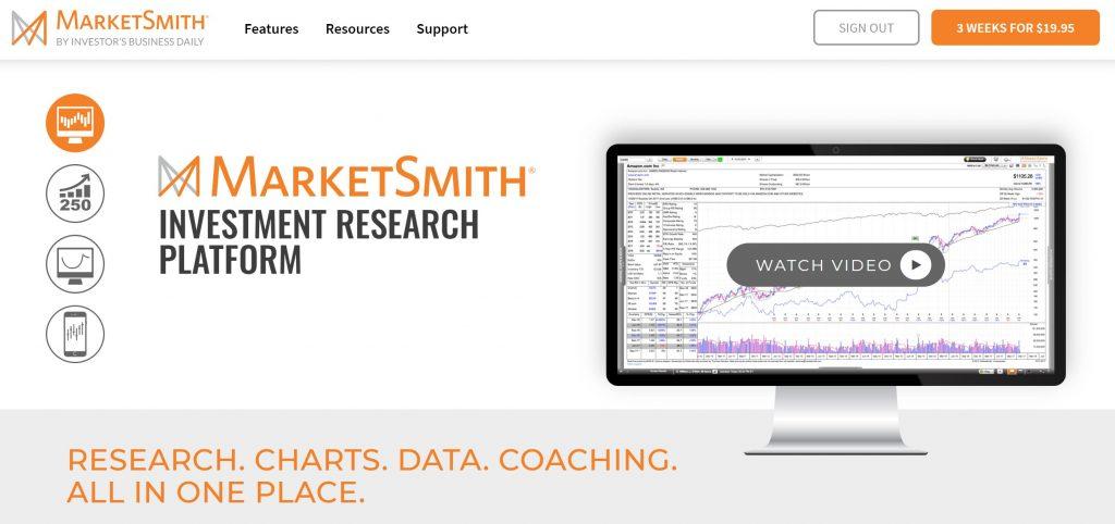 MarketSmith Homepage